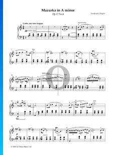 Mazurka in A Minor, Op. 17 No. 4