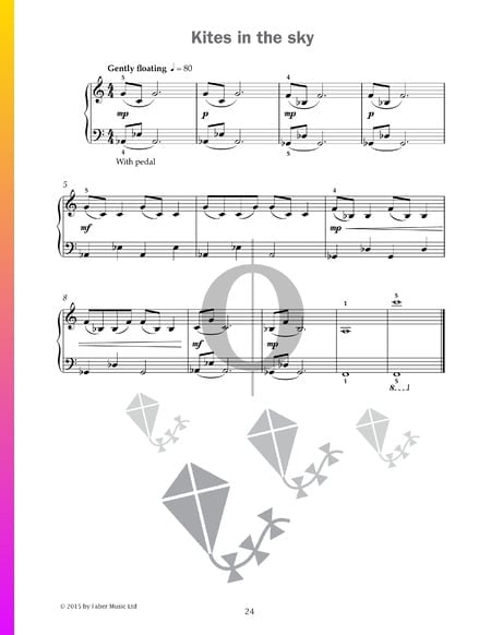 Kites in the sky Sheet Music