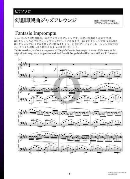 Fantasía-Impromptu en do sostenido menor, Op. post. 66 (Versión de jazz) Partitura