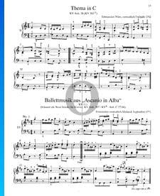 Ascanio en Alba: 9 Piezas For piano, KV Anh. 207 / KV6: Anh. C 27.06