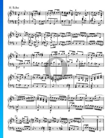 French Overture, BWV 831: 11. Echo Sheet Music