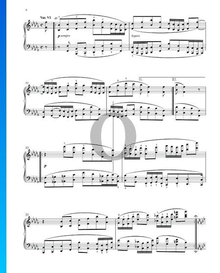 Variationen und Fuge über ein Thema von Händel, Op. 24: Variation VI Musik-Noten