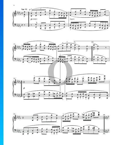 Variations and Fugue on a Theme by Handel, Op. 24: Variation VI Sheet Music