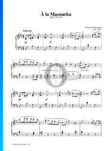 A La Mazourka, Op. 41 Nr. 3b