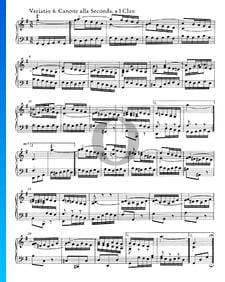 Goldberg Variationen, BWV 988: Variatio 6. Canone alla Seconda. a 1 Clav.