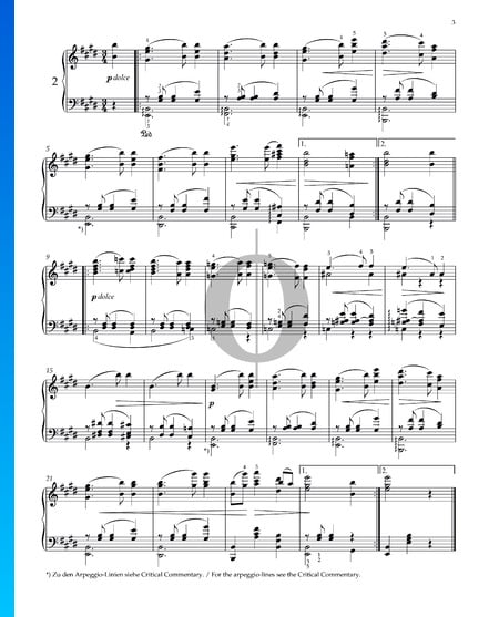 Vals, Op. 39 n.º 2 Partitura