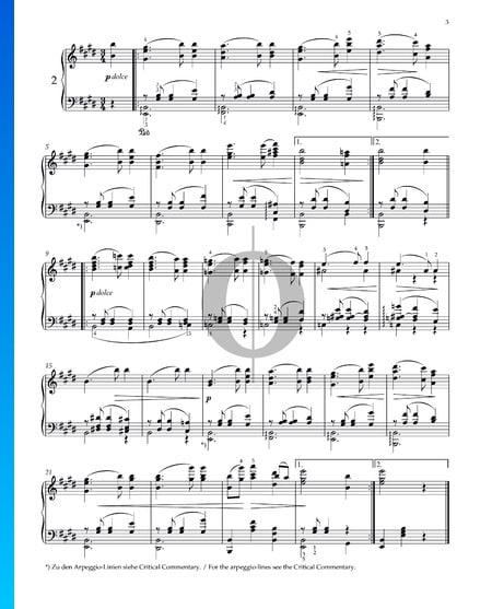 Walzer, Op. 39 Nr. 2 Musik-Noten