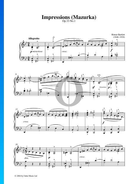 Impressionen (Mazurka), Op. 33 Nr. 1 Musik-Noten