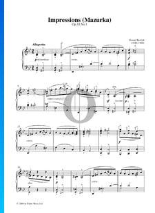 Impressions (Mazurka), Op. 33 No. 1