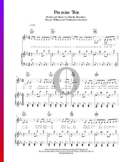 Promise This Musik-Noten