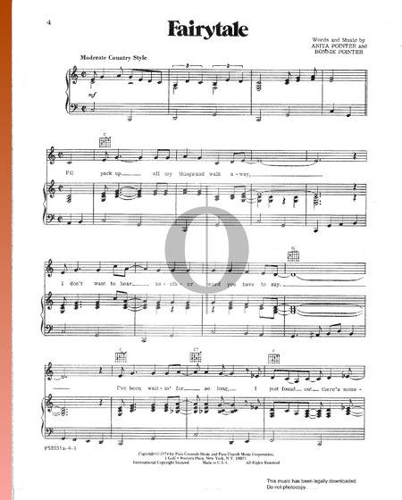 Fairytale Sheet Music