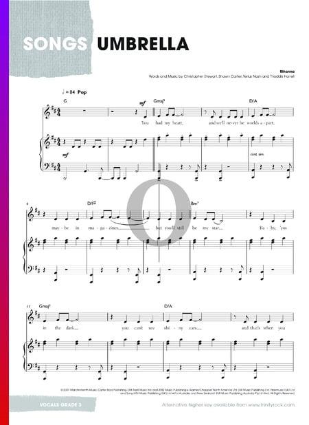 Umbrella Musik-Noten