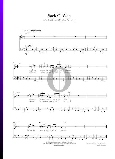 Sack O' Woe Musik-Noten