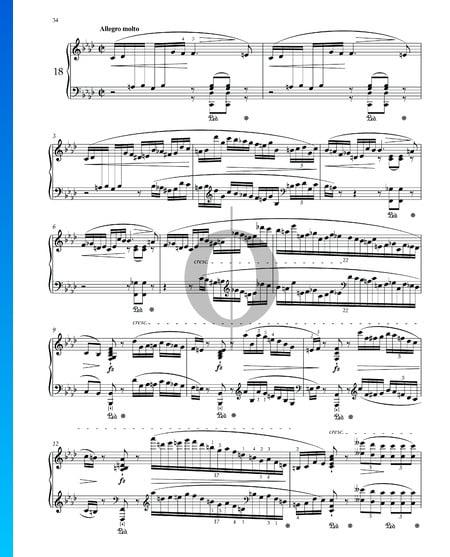 Prélude f-Moll, Op. 28 Nr. 18 Musik-Noten
