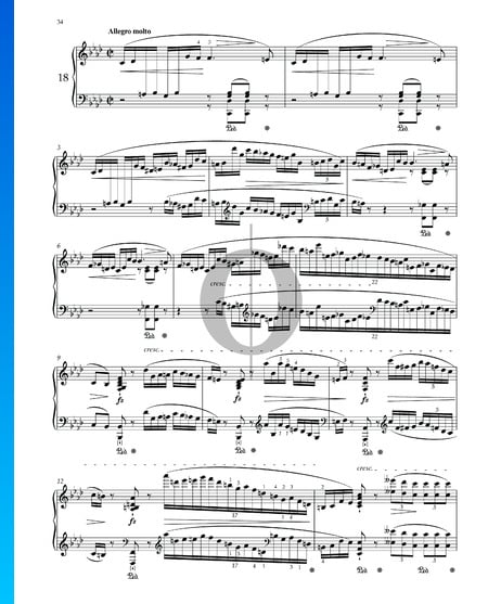 Prelude in F Minor, Op. 28 No. 18 Sheet Music