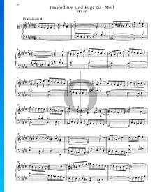 Prélude 4 Do dièse mineur, BWV 849