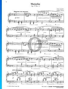 Mazurka, Op. 57 No. 3
