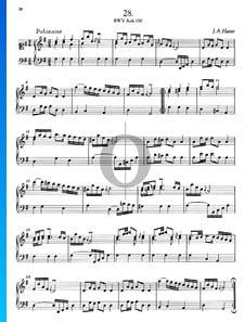 Polonaise en Sol Majeur, BWV Anh. 130