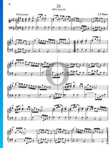 Polonaise G-Dur, BWV Anh. 130