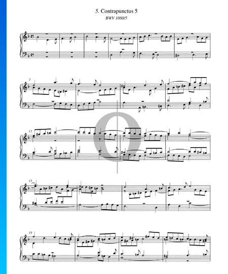 Contrapunctus 5, BWV 1080/5 Musik-Noten