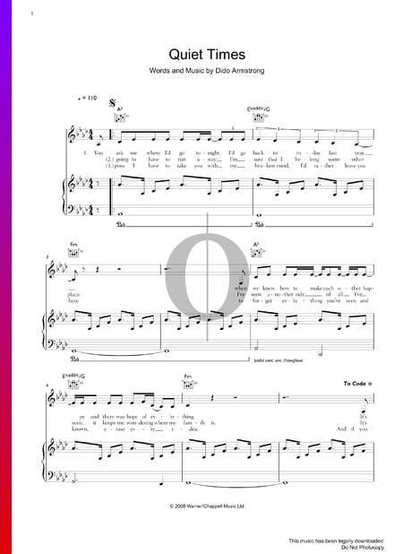 Quiet Times Sheet Music