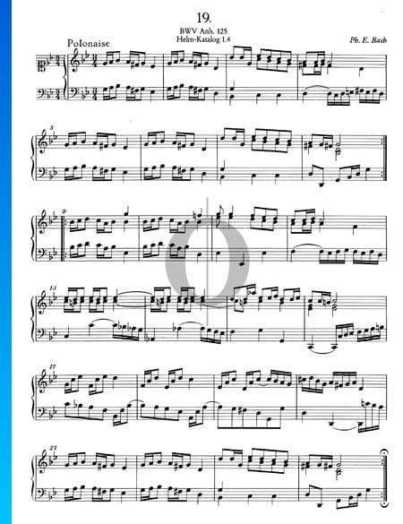 Polonaise en Sol mineur, BWV Anh. 125 Partition