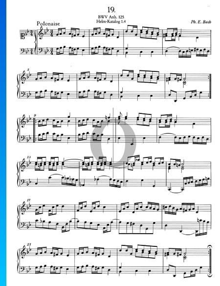 Polonaise G Minor, BWV Anh. 125 Sheet Music