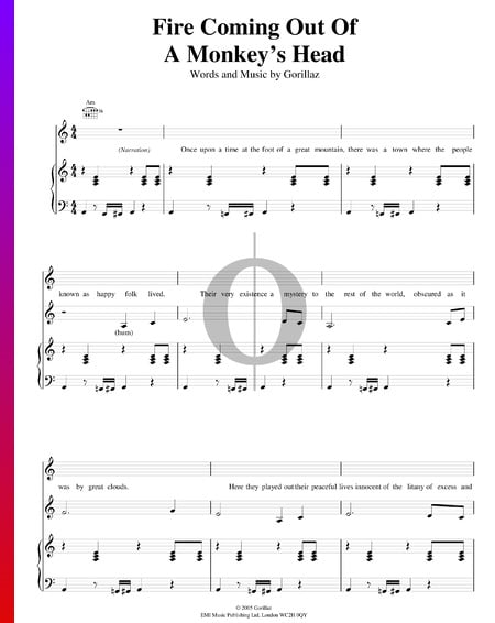 Fire Coming Out Of The Monkey's Head Sheet Music
