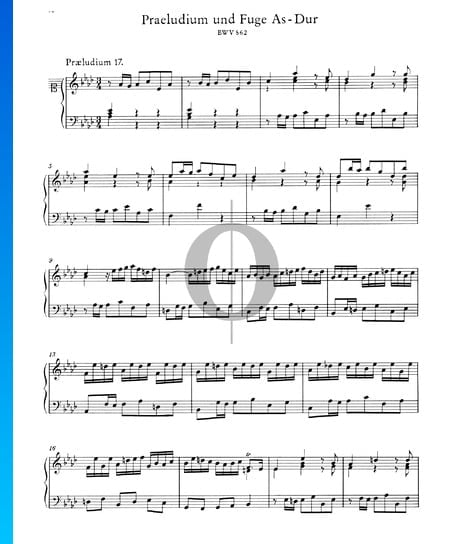 Prelude 17 A-flat Major, BWV 862 Sheet Music