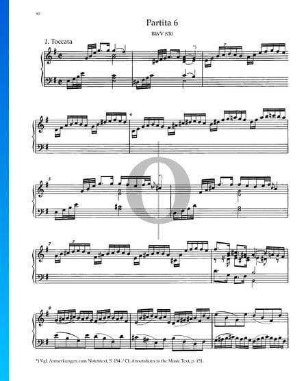 Partita 6, BWV 830: 1. Toccata Sheet Music
