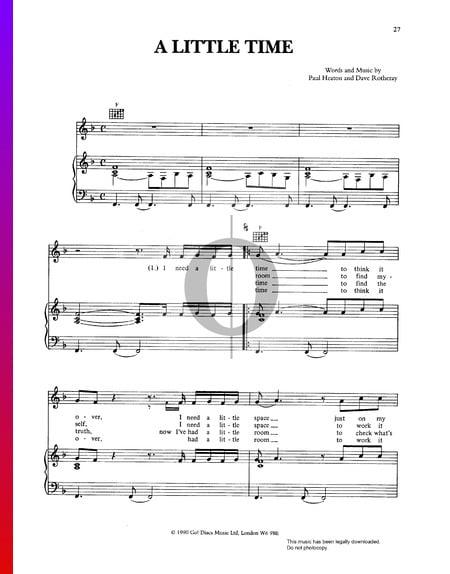 A Little Time Musik-Noten