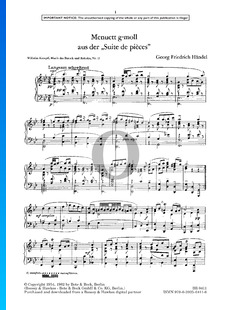 Minuet en Sol mineur, HWV 434/4