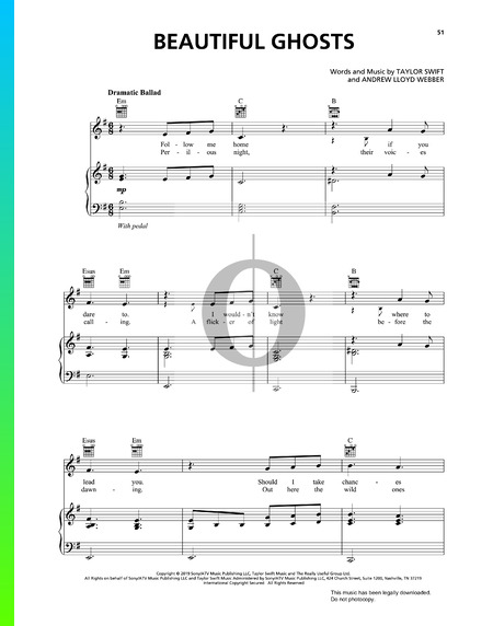 Beautiful Ghosts Musik-Noten