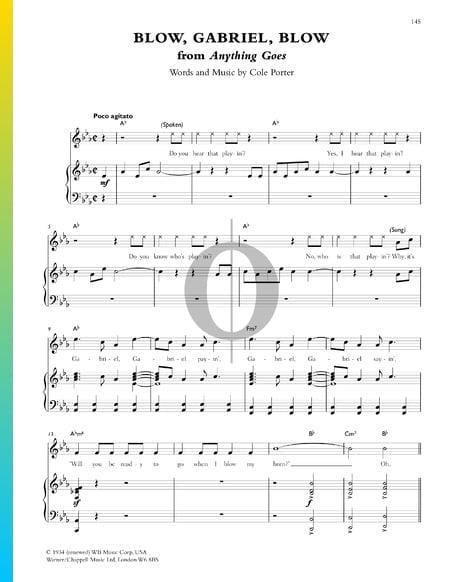 Blow, Gabriel, Blow Musik-Noten