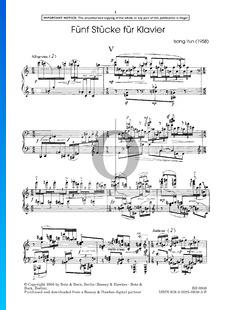 5 Piano Pieces: No. 5. Allegretto