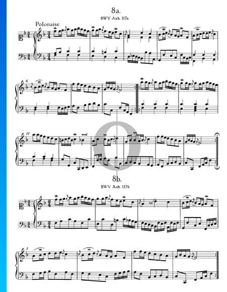 Polonaise en Fa Majeur, BWV Anh. 117 Partition