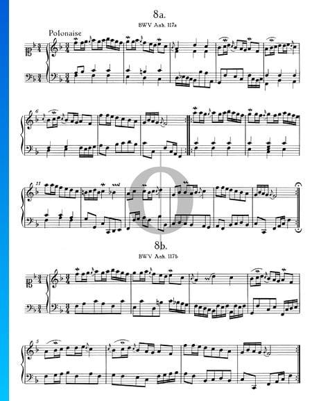Polonesa en fa mayor, BWV Anh. 117 Partitura