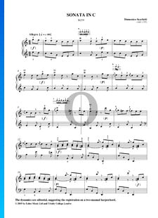 Sonate in C-Dur, K159: Allegro