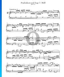 Prelude 12 F Minor, BWV 857