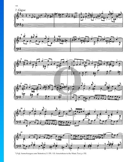 Partita 6, BWV 830: 7. Gigue Sheet Music