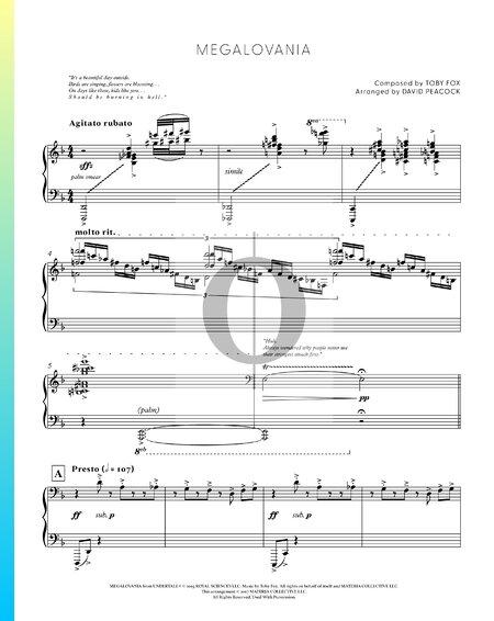 Megalovania Musik-Noten