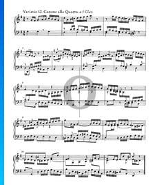 Goldberg Variationen, BWV 988: Variatio 12. Canone alla Quarta. a 1 Clav.