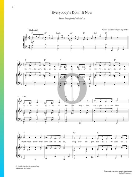 Everybody's Doin' It Now Sheet Music