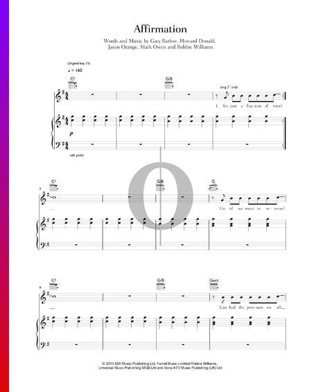 Affirmation Musik-Noten