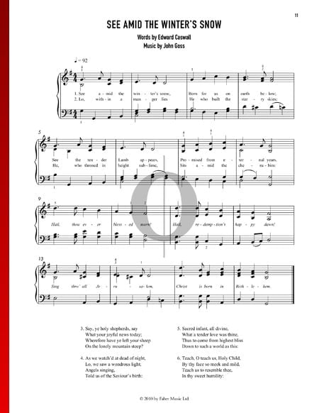 See Amid The Winter's Snow Partitura