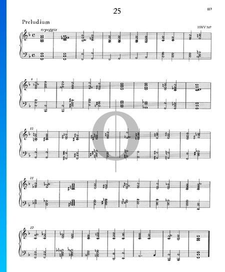 Prelude F Major, HWV 567 Sheet Music