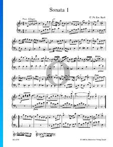 Sonata n.º 1, Wq 48: 1. Poco Allegro