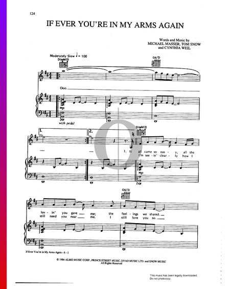 If Ever You're In My Arms Again Sheet Music
