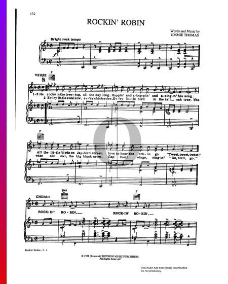 Rockin' Robin Musik-Noten