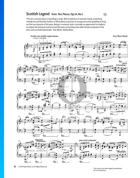 Two Pieces Op.54, No.1 Scottish Legend Sheet Music